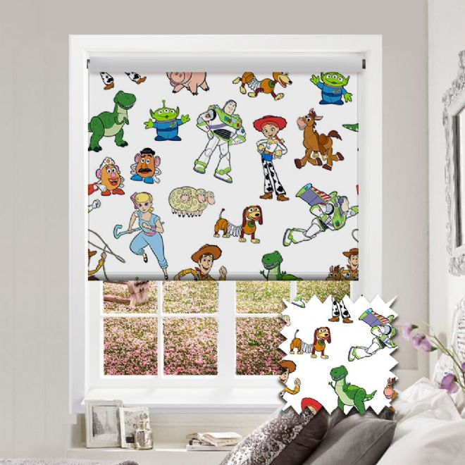 Premium Roller in Disney Pixar Toy Story Patterned Fabric - Just Blinds